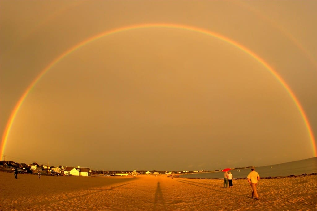 Rainbow as seen at Craigville Beach.